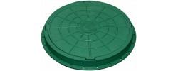 Люк канализационный 1,5 т круглый сертифицированный зеленый Новая Эра
