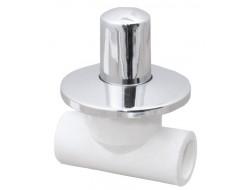 Вентиль хром  20 (VALFEX)  белый