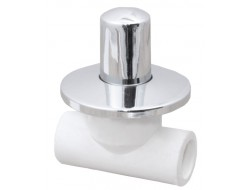 Вентиль хром  25 (VALFEX)  белый