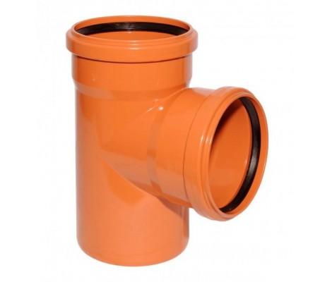 Тройник канализационный 160/160/90° (рыжий) FLEXTRONE