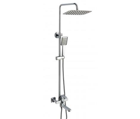 Душевая система с гусаком, верхний душ, ручная лейка хром A2408 FAOP