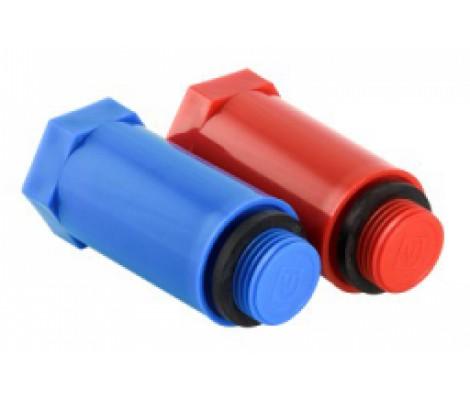 Комплект длинных п/п пробок   1/2  красная+синяя   (Valtec )