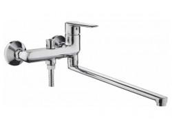 Смеситель для ванны хром       F2284      (ф35, длинный гусак 40 см, перекл. на гусаке)  FRAP
