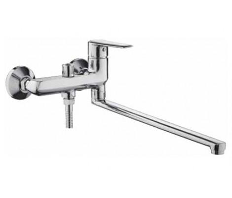 Смеситель для ванны хром Ø35, длинный гусак 40 см. c переключателем на душ F2284 FRAP