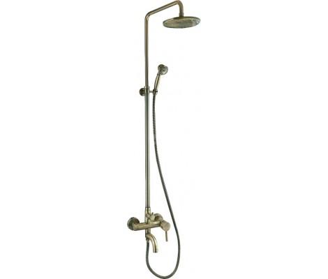 Душевая система смеситель бронза F2410   (смес с гусаком, верхний душ, ручн. лейка)  FRAP