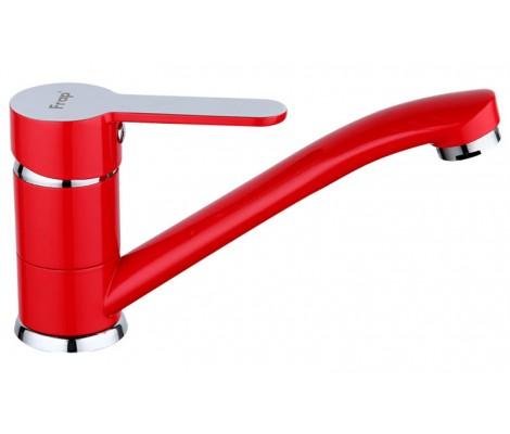 Смеситель для кухни красный (на гайке) F4543 Frap