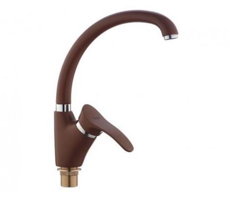 Смеситель для кухни коричневый (Ø40, высокий гусак, на гайке) F4101-14 Frap