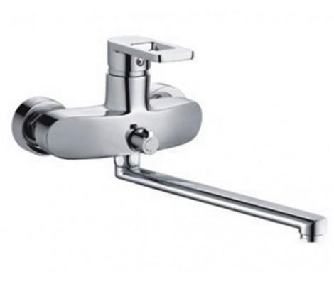 Смеситель для ванны хром Ø35, длинный гусак 35 см, европереключатель F2272 FRAP