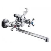 Смеситель для ванны хром (длинный гусак 30 см, европереключатель) F22732-В Frap