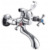 Смеситель для ванны хром (короткий гусак, европереключатель) F32732-В Frap