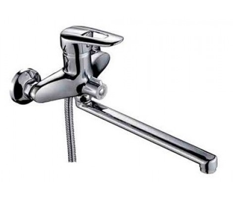 Смеситель для ванны хром Ø40, длинный гусак 30 см, европереключатель F22007 FRAP
