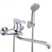 Смеситель для ванны хром (Ø40, длинный гусак 30 см, европереключатель) F22021 Frap