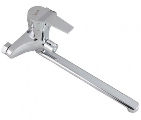Смеситель для ванны хром (Ø40, длинный гусак 30 см, европереключатель) F22063 Frap