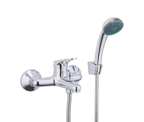 Смеситель для ванны хром Ø35, короткий гусак с переключателем на душ F3013 Frap