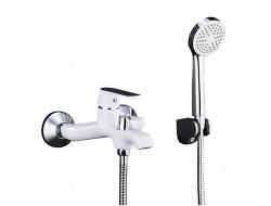 Смеситель для ванны белый   F3231      (ф35, короткий гусак, перекл. на гусаке)  FRAP