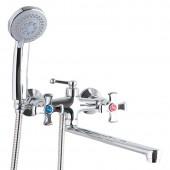 Смеситель для ванны хром (длинный гусак 30 см, европереключатель) F2293 Frap