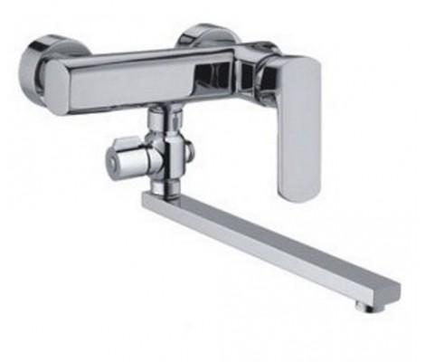 Смеситель для ванны хром Ø35, длинный гусак 30 см c переключателем F2164 FRAP