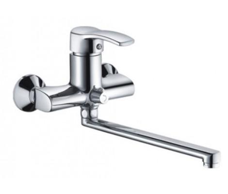 Смеситель для ванны хром (Ø40, длинный гусак 30 см, европереключатель) F2270 Frap