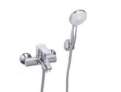 Смеситель для ванны хром       F3070      (ф40, короткий гусак, перекл. на гусаке)  FRAP