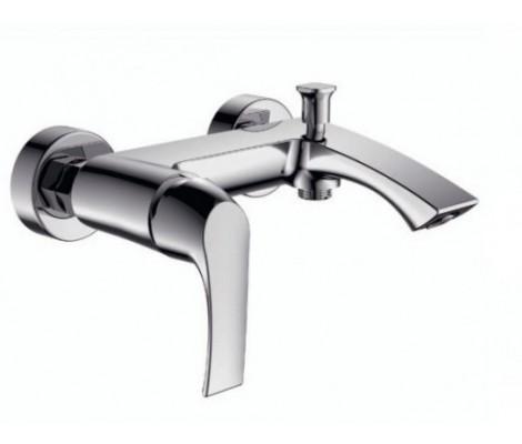 Смеситель для ванны хром (Ø35, короткий гусак с переключателем на душ) F3080 Frap
