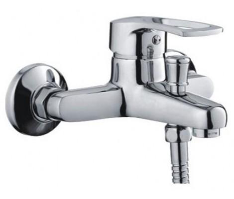 Смеситель для ванны хром (Ø40, короткий гусак с переключателем на душ) F30701-В Frap