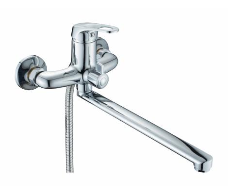 Смеситель для ванны хром       F2214-В  (ф35, длинный гусак 40 см, евро перекл.)  FRAP