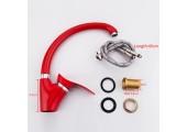 Смеситель для кухни красный (Ø40, высокий гусак, на гайке) F4101-13 Frap