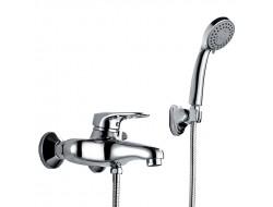 Смеситель для ванны хром       F3201      (ф40, короткий гусак, евро перекл 180)  FRAP