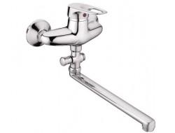 Смеситель для ванны хром       F2104     (ф40, длинный гусак 40 см, перекл. на гусаке)  FRAP