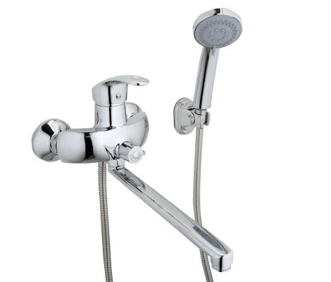 Смеситель для ванны хром (Ø40, длинный гусак 30 см, европереключатель) F2221 Frap