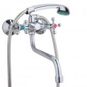 Смеситель для ванны хром (длинный гусак 32 см, европереключатель) F2208 Frap