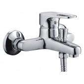 Смеситель для ванны хром (Ø40, короткий гусак с переключателем на душ) F30702-В Frap