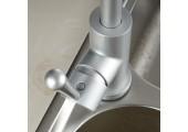 Смеситель для кухни матовый (Ø35, высокий гусак, на гайке, авиационный алюминий) F4152 Frap