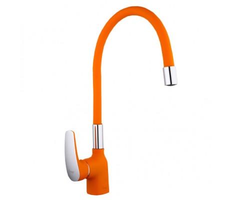Смеситель для кухни оранжевый на гайке F4453-02 FRAP