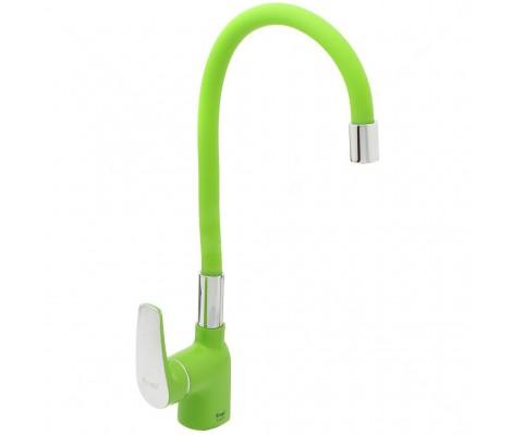 Смеситель для кухни зеленый (на гайке) F4453-05 Frap
