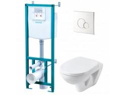 Инсталляционная система Бореаль (унитаз-кнопка белое-сиденье микролифт) (1WH501544)