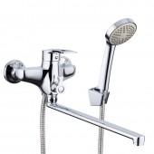 Смеситель для ванны хром (Ø40, длинный гусак, европереключатель) R22066 Frud