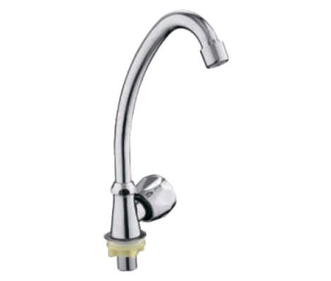 Кран для воды хром (высокий гусак) R81689 Frud