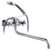 Смеситель для ванны хром (длинный гусак, евро переключатель на душ) R22602 Frud