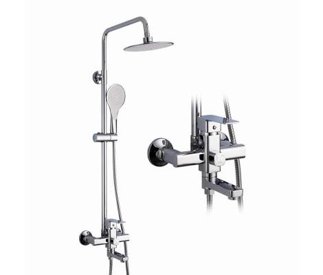 Душевая система хром (смеситель с гусаком, верхний душ, ручная лейка) R24131 Frud