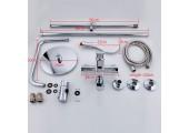 Душевая система хром с гусаком, верхний душ, ручная лейка R24131 FRUD