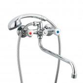 Смеситель для ванны хром (длинный гусак, европереключатель) R22111 Frud