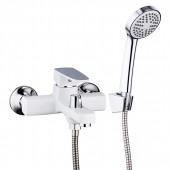 Смеситель для ванны белый (Ø35, короткий гусак, европереключатель) R32301 Frud