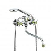 Смеситель для ванны зеленый (длинный гусак, европереключатель) R22118-6 Frud