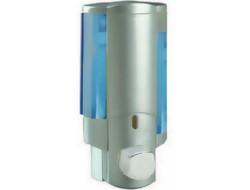 ZERIX LR407  Дозатор жидкого мыла настенный (пластик, серый) 350 мл