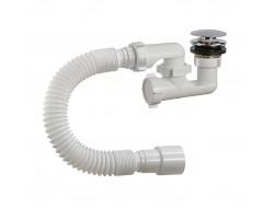 А-25589  ОРИО сифон для душ поддона 1 1/2 * 40, регулируемый, клик-клак  (40 шт)