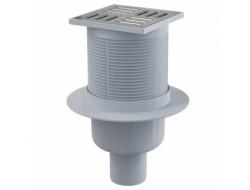 Сливной трап 105*105/50мм прямой с гидрозатвором SMART  (APV32) ALKAPLAST