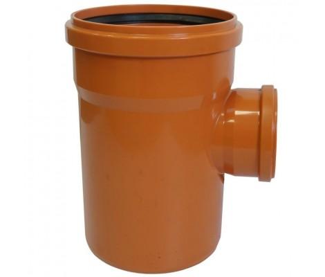 Тройник канализационный 110/50/90° (рыжий) FLEXTRONE