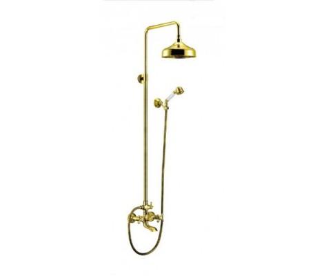 Душевая система  (позолоченный)  G2404    (смес с гусаком, верхний душ, ручн. лейка)  GAPPO