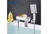Смеситель для ванны белый Ø35, короткий гусак, европереключатель G3207-8 GAPPO